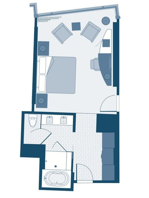 aria las vegas deluxe room floorplan