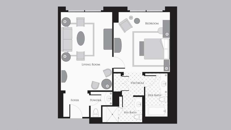 Bellagio King Suite Floorplan