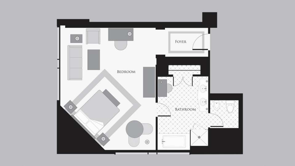 Bellagio Salone Suite Floorplan
