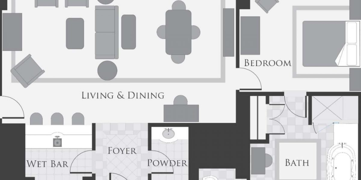Bellagio Tower Suite Floor Plan