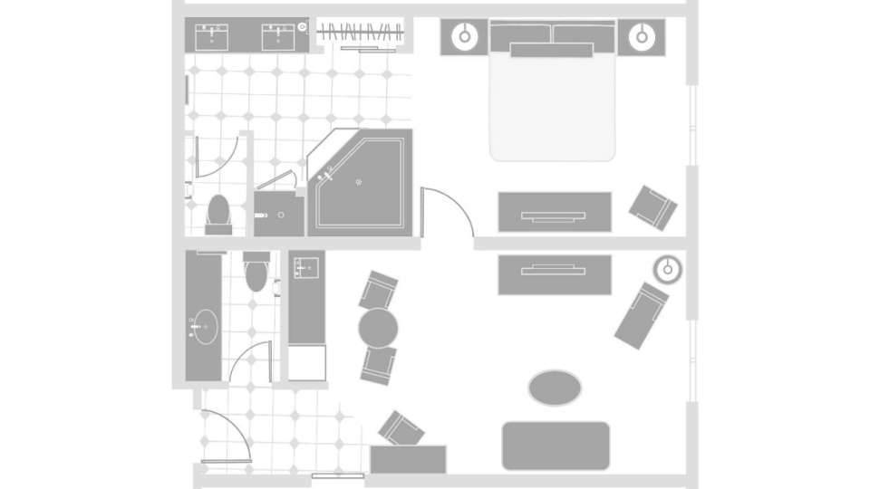 Excalibur Las Vegas Royal Luxury Suite Floorplan