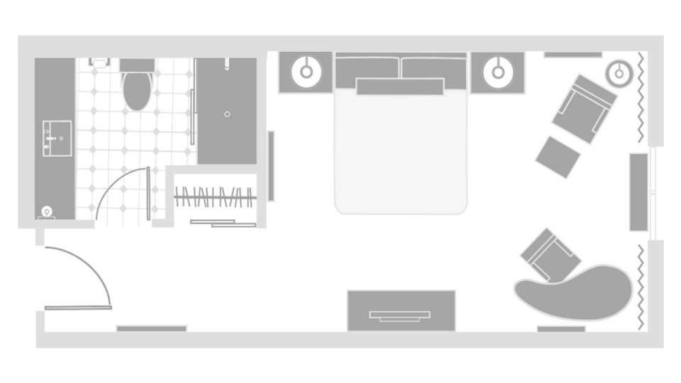 Excalibur Las Vegas Royal Tower Room Floor plan