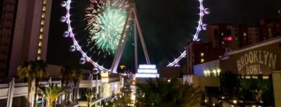 high roller las vegas Fireworks at Linq Kabik