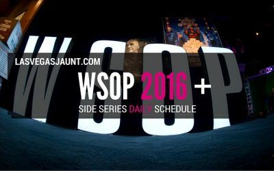 WSOP 2016 Side Series Full Daily Schedule