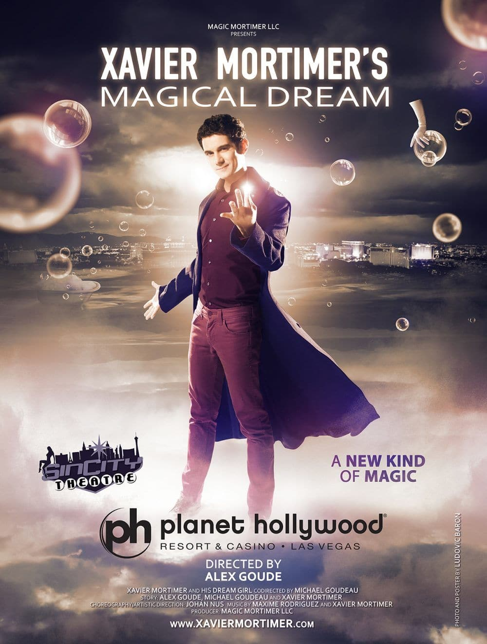 Xavier Mortimer Magical Dream Planet Hollwyood Las Vegas