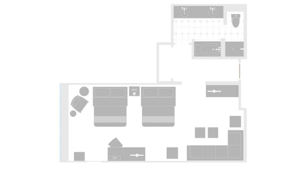MGM Grand Las Vegas Executive Queen Suite Floorplan