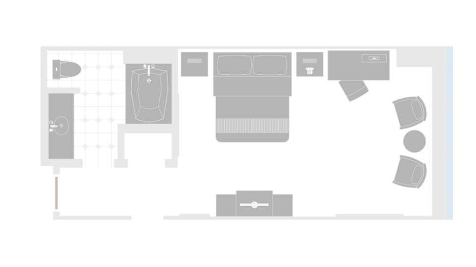 MGM Grand Las Vegas Grand King Room Floorplan