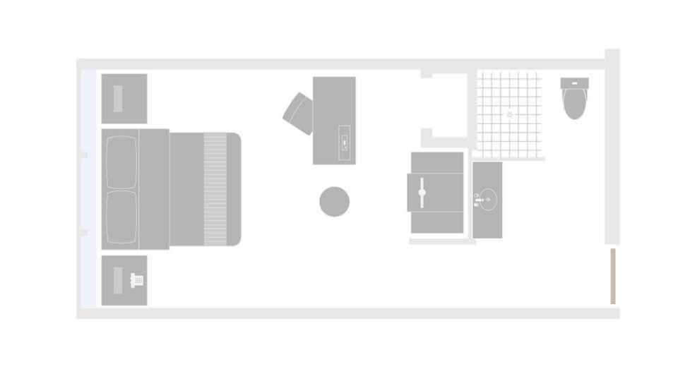 MGM Grand Las Vegas West Wing King Room Floorplan
