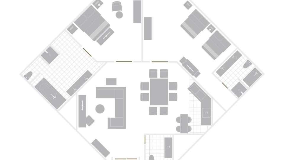 Mirage Las Vegas Hospitality Suite Floorplan