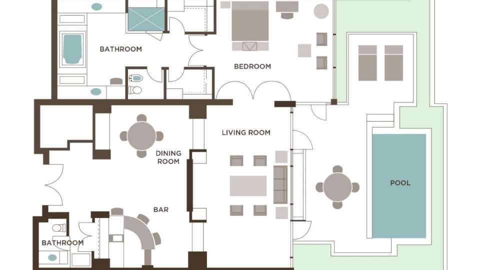 Mirage Las Vegas Lanai Villa Floorplan