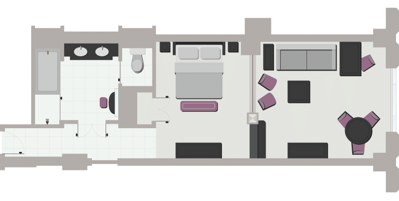 Venetian Las Vegas Luxury Suite Floorplan