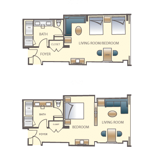 Encore Las Vegas Resort Suite Floorplan