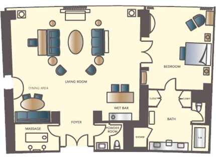 Encore Las Vegas Salon Suite Floorplan