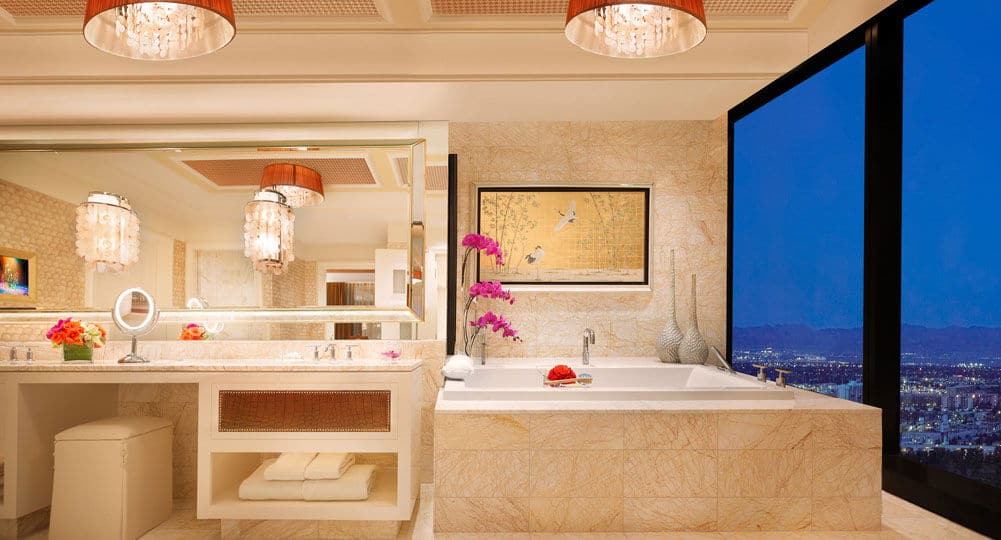 Encore Las Vegas Three Bedroom Duplex Bathroom