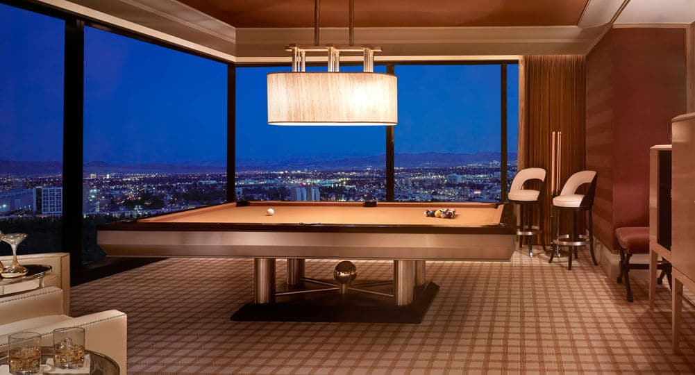 Encore Las Vegas Three Bedroom Duplex Billiard