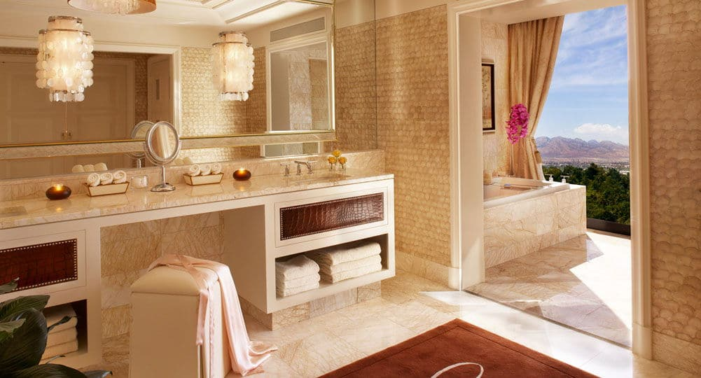 Encore Las Vegas Two Bedroom Appartment Bathroom