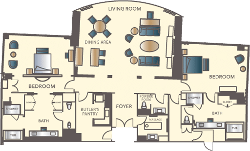 Encore Las Vegas Two Bedroom Appartment Floorplan