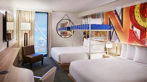 The Linq Las Vegas Bunk Bed Deluxe Room