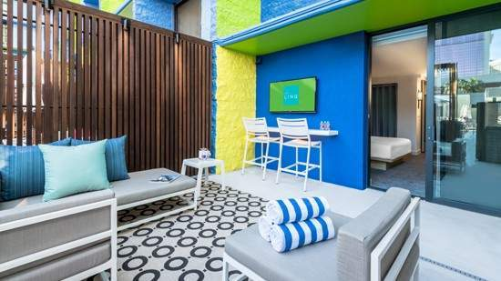 The Linq Las Vegas Deluxe Poolside Cabana Room