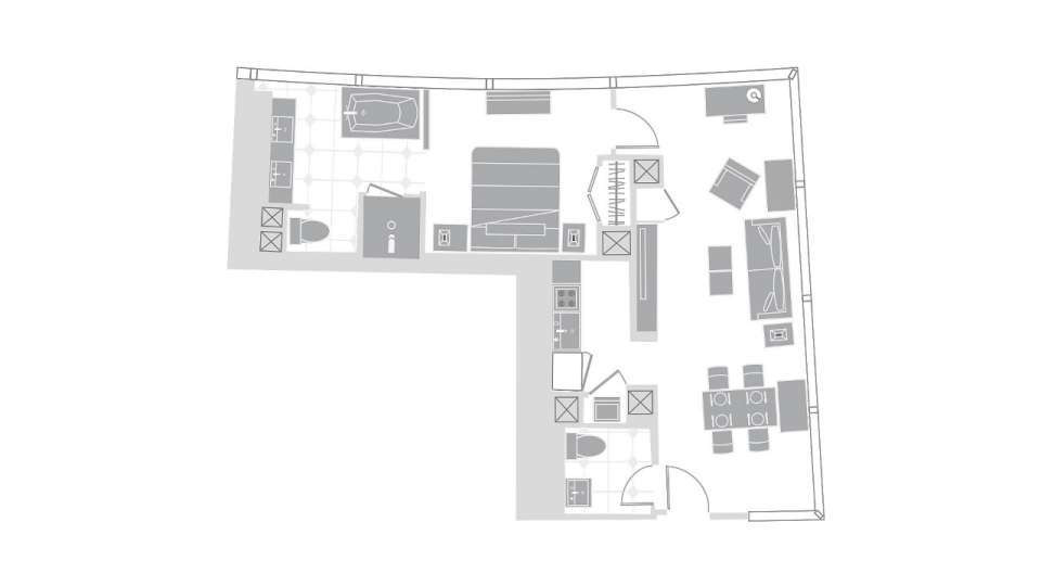 Vdara Las Vegas Executive Corner Suite Floorplan