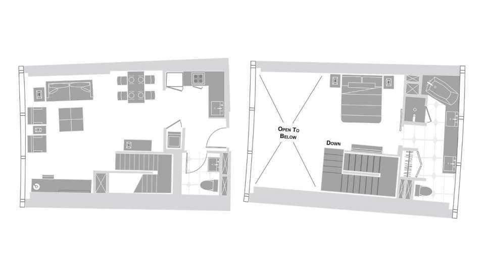 Vdara Las Vegas One Bedroom Loft Floorplan