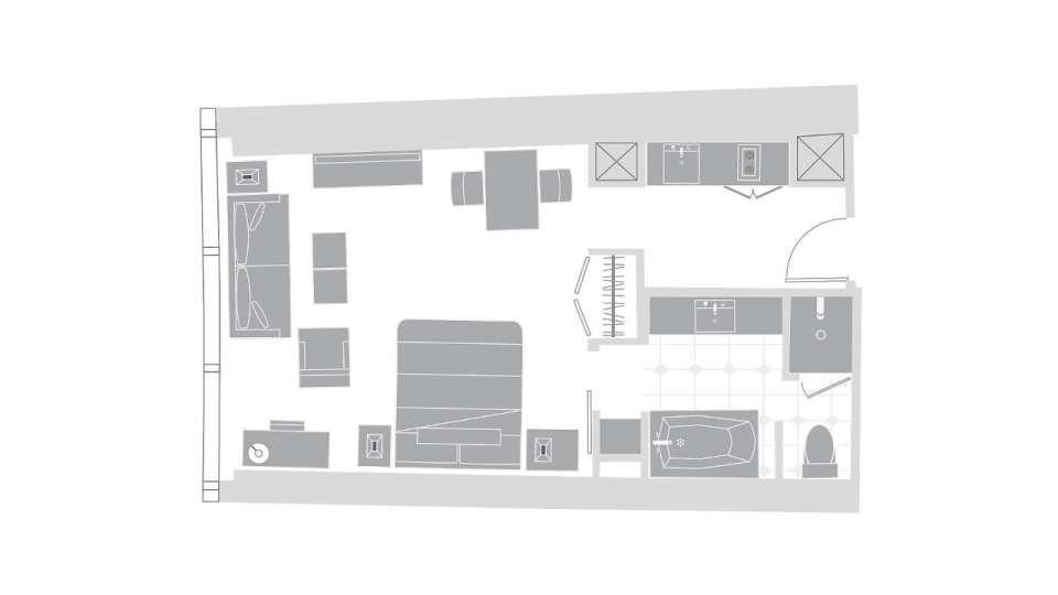 Vdara Las Vegas Studio Suite Floorplan