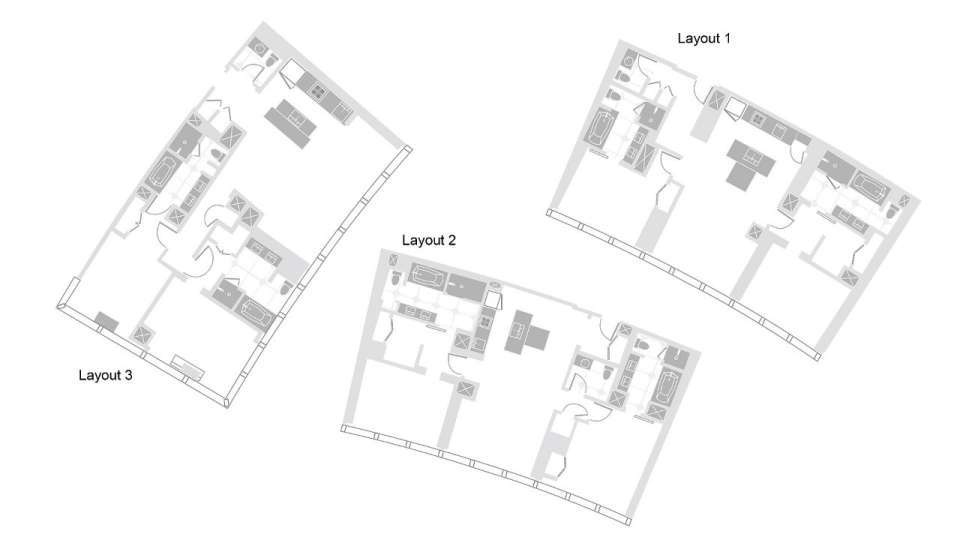 Vdara Las Vegas Two Bedroom Hospitality Suite Floorplan