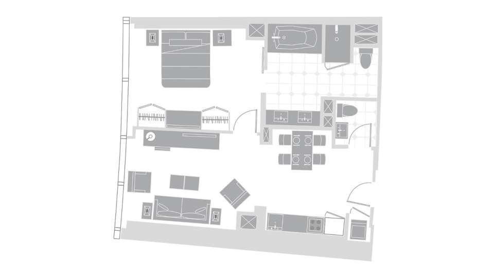 Vdara Las Vegas Vdara Suite Floorplan
