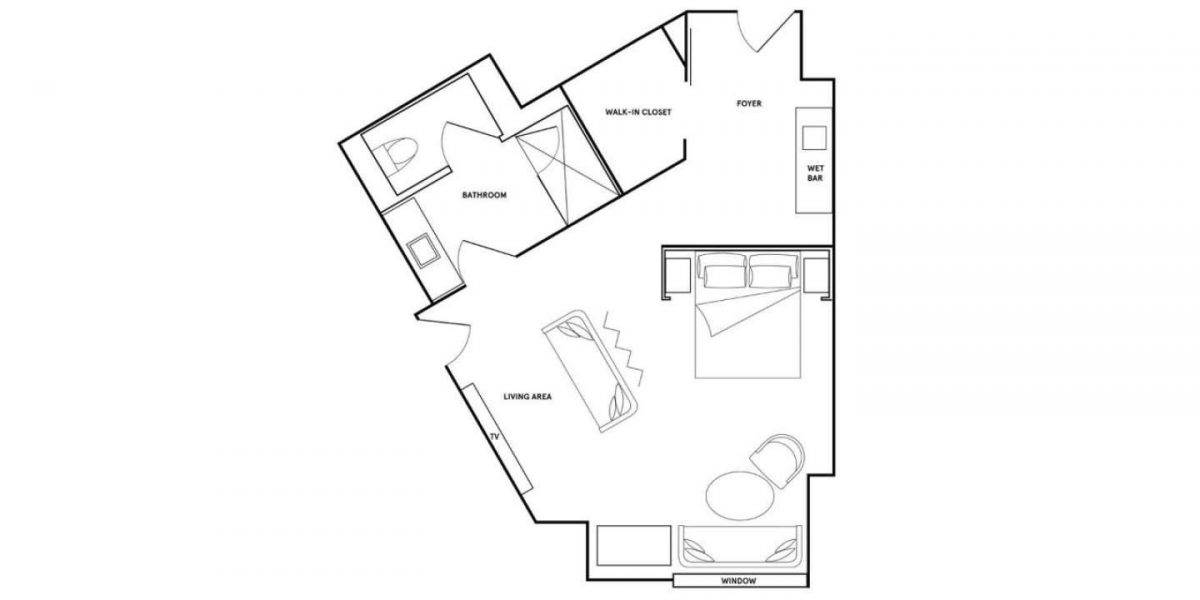 Park MGM Las Vegas Nighthawk Suite Floorplan