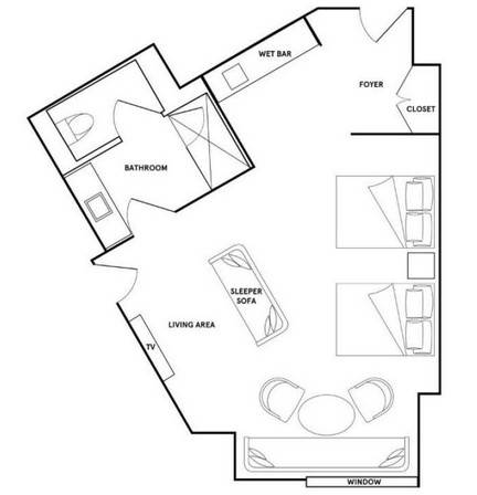 Park MGM Las Vegas Nightingale Suite Floorplan