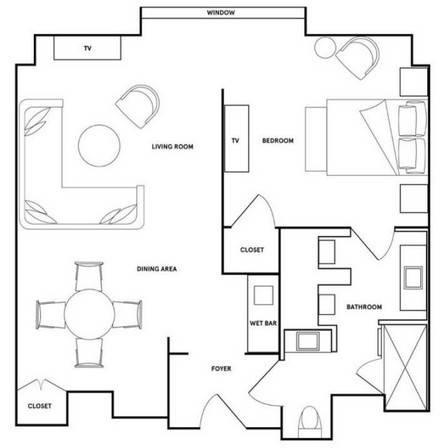 Park MGM Las Vegas Skylark Suite Floorplan