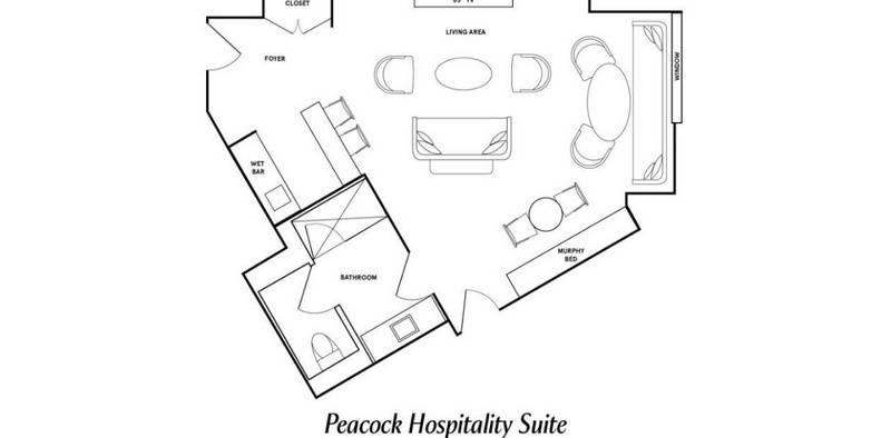 Park MGM Las Vegas Peacock Hospitality Suite Floorplan