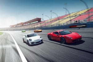 Exotics Car Racing Las Vegas Fleet