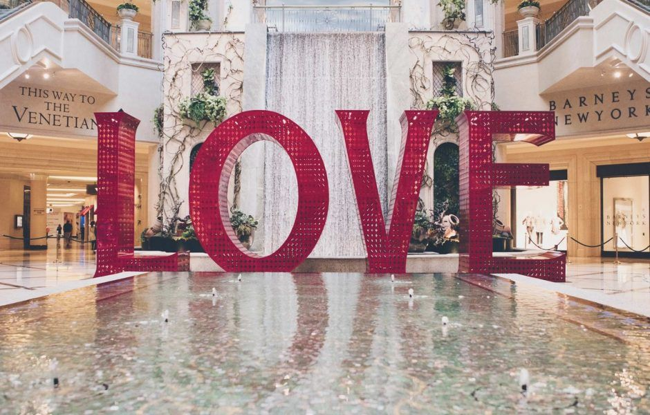 The Venetian Las Vegas Love Art Installation