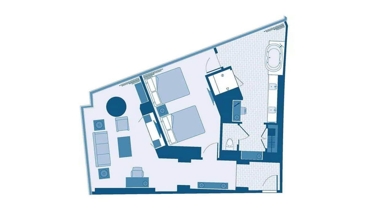 Aria Las Vegas Center Suite Floor Plan