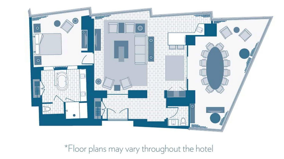 Aria Las Vegas Executive Hospitality Suite Floor Plan