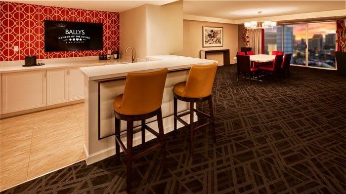 Bally's Las Vegas Resort Premium Suite Wet Bar