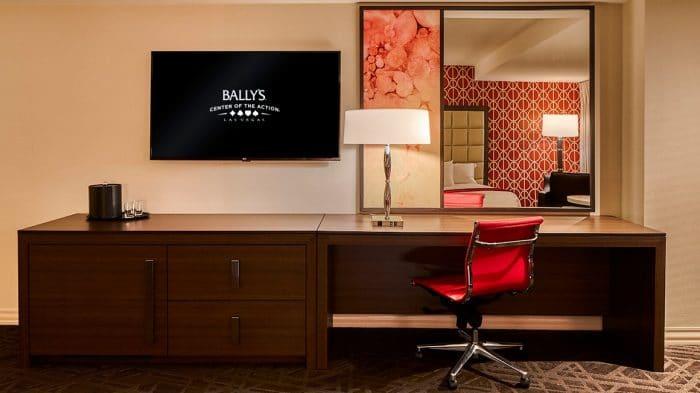 Bally's Las Vegas Resort Studio Suite Desk
