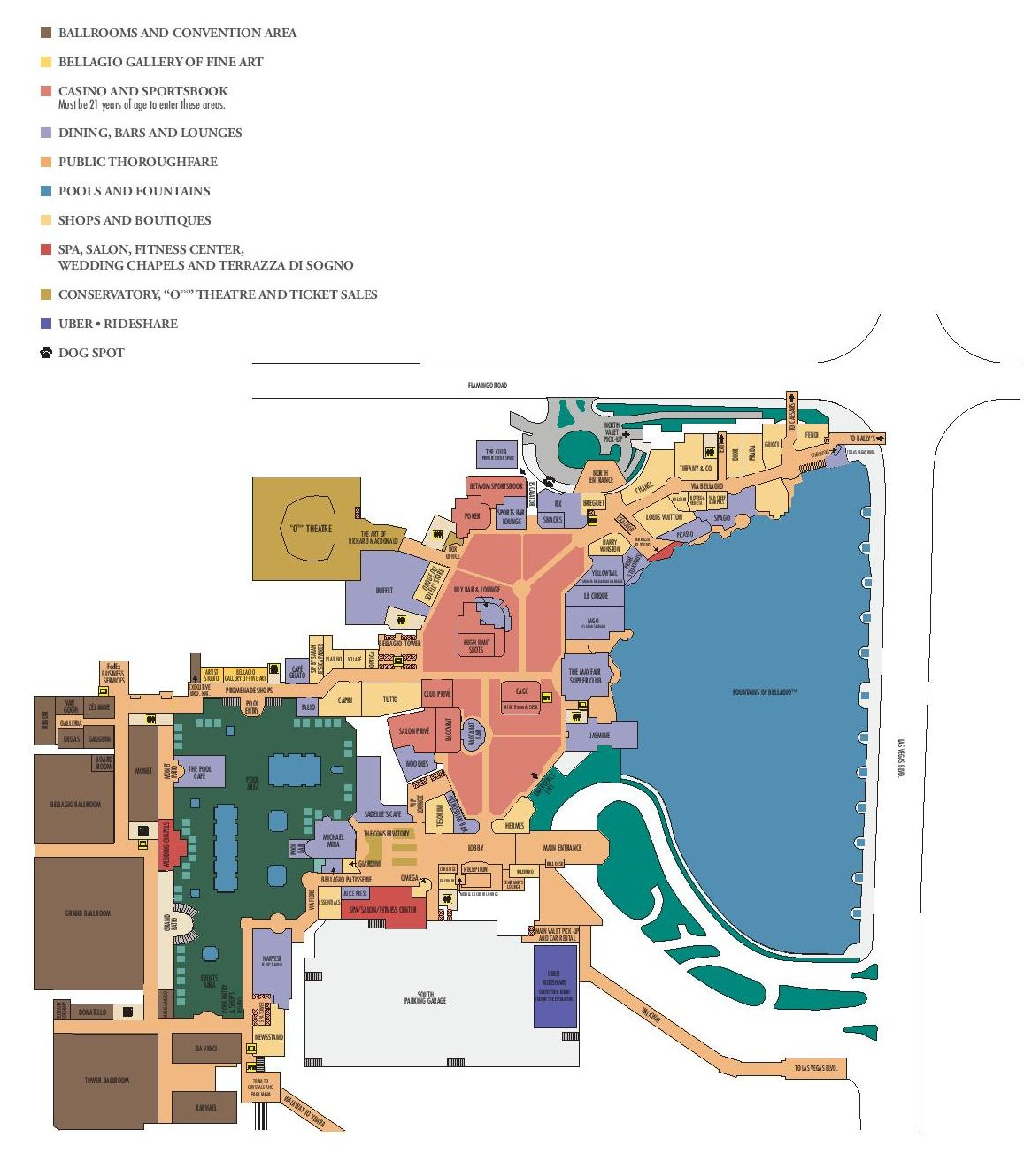 Bellagio Las Vegas Property Map