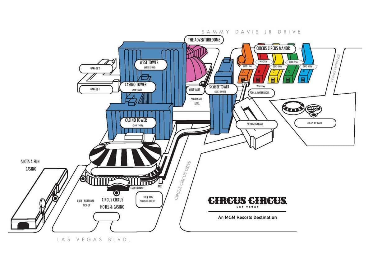 Circus Circus Las Vegas Property Map