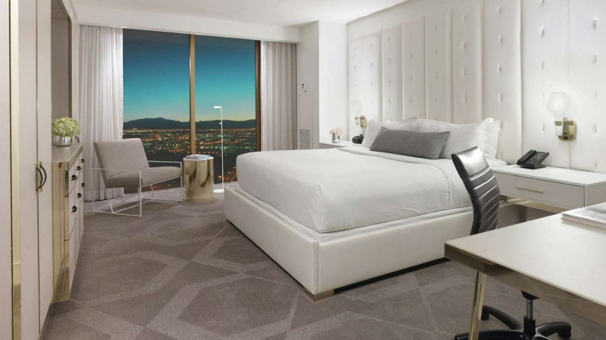 Delano Las Vegas King Suite Bedroom