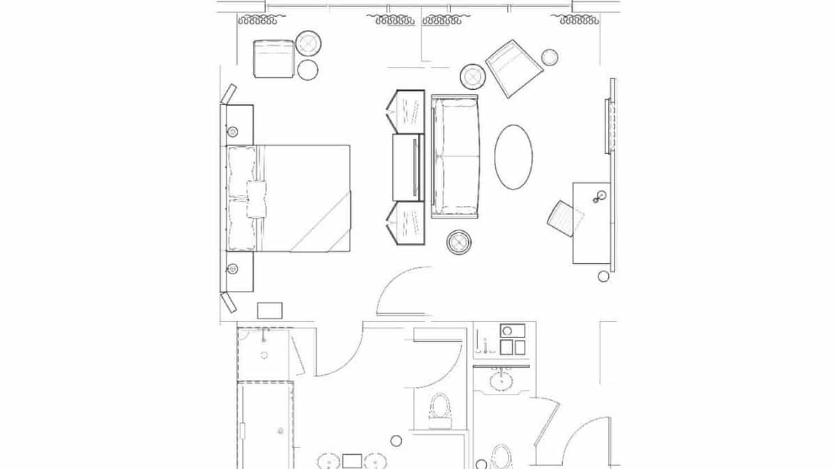 Delano Las Vegas King Suite Floor Plan