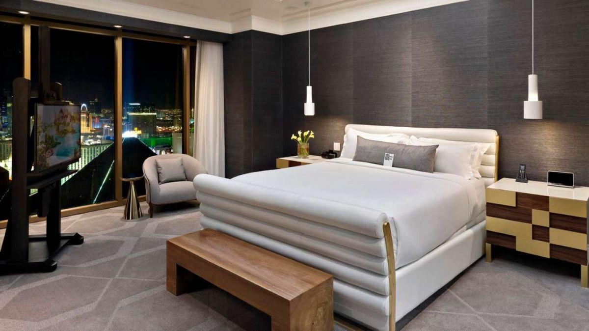 Delano Las Vegas Loft Bedroom
