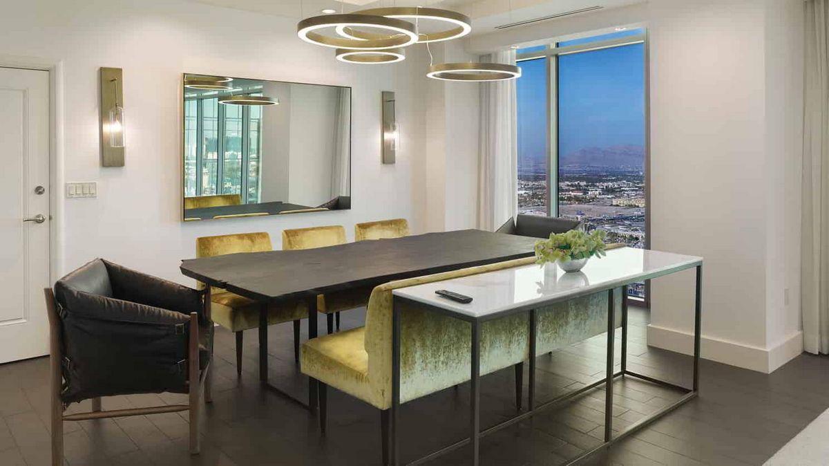Delano Las Vegas Penthouse Premier Suite Dining Room