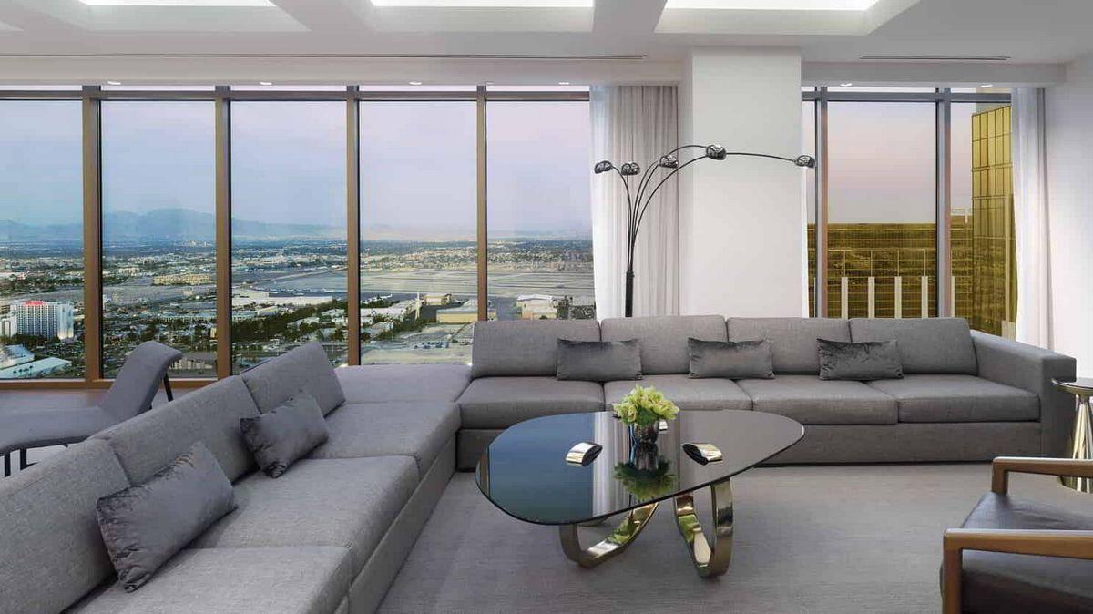 Delano Las Vegas Penthouse Premier Suite Living Room