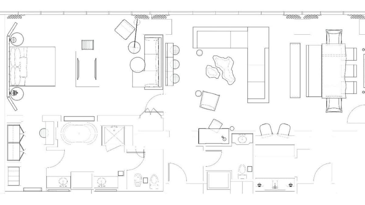 Delano Las Vegas Penthouse Superior Suite Floor Plan
