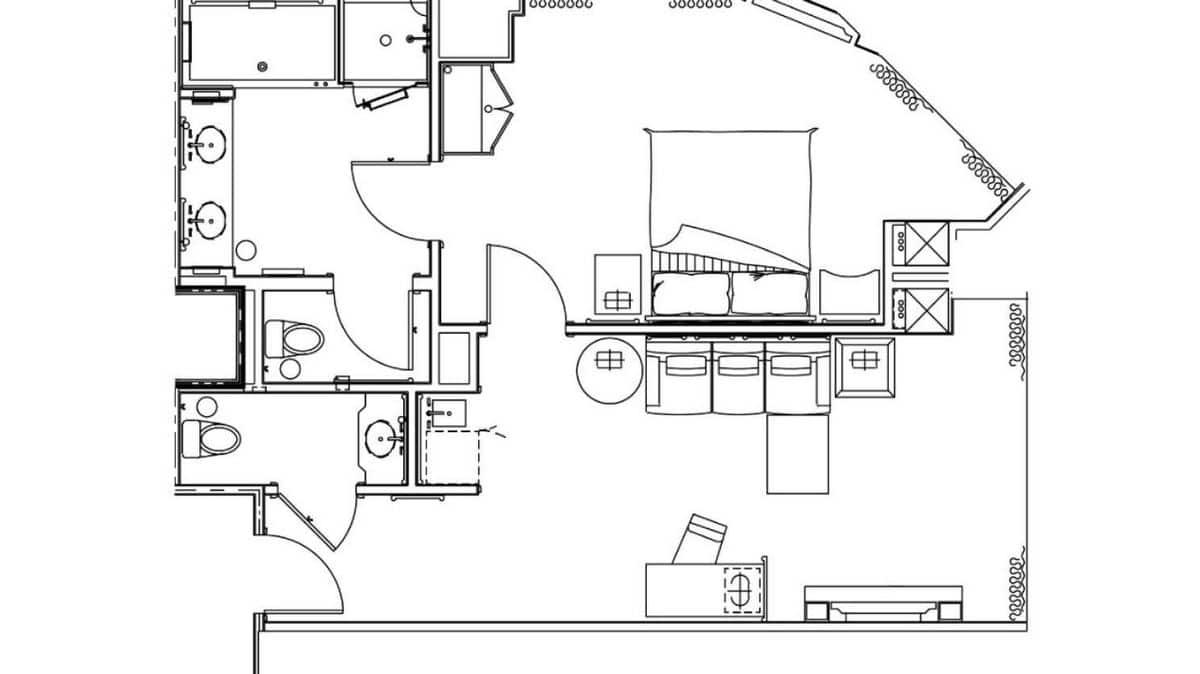 Delano Las Vegas Scenic Suite Floor Plan