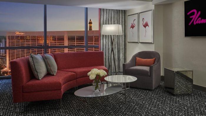Flamingo Las Vegas Junior Suite Living Room