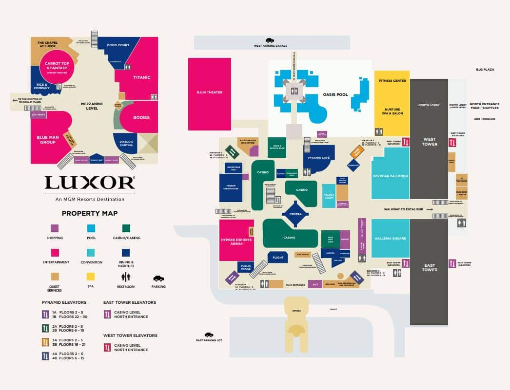 Luxor Las Vegas Property Map