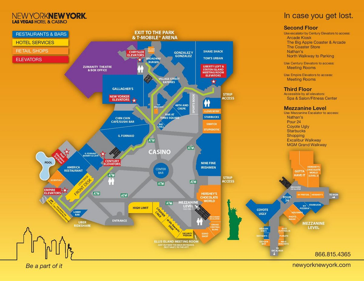 New York New York Las Vegas Property Map